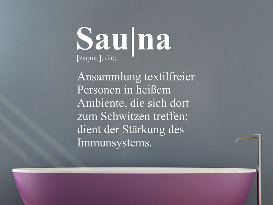 Wandtattoo Sauna Definition Wellness | WANDTATTOO.DE