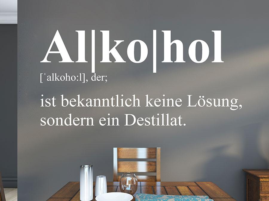 Wandtattoo Alkohol Definition von Wandtattoo.de
