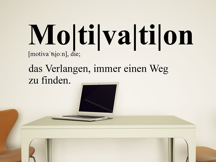 Wandtattoo Motivation Definition von Wandtattoo.de