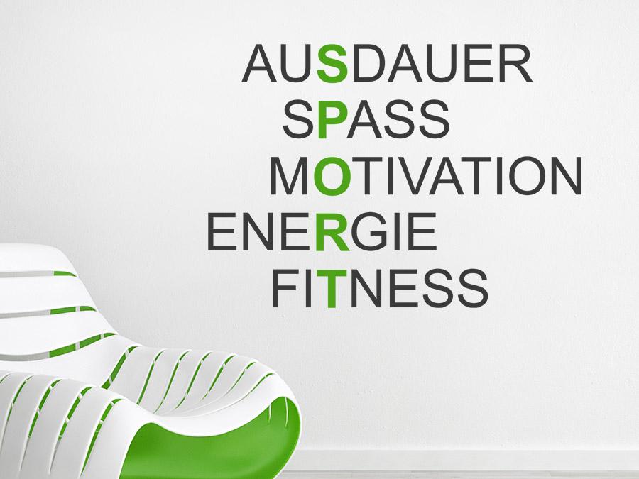 Wandtattoo Sport Motivation Begriffe Wandtattoode