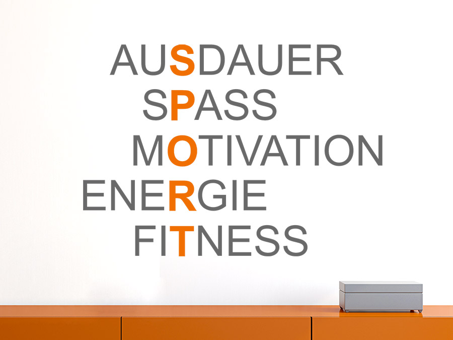 Wandtattoo Sport Motivation Wandtattoo Sport Motivation Im Flur ...