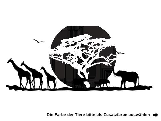 Wandtattoo afrika hitze von - Wandtattoo afrika tiere ...