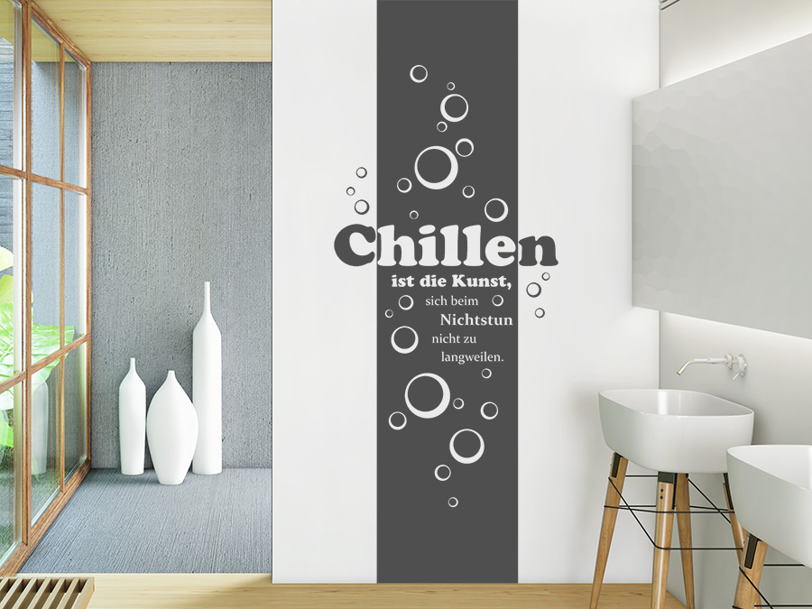wandtattoo banner chillen ist die kunst wandtattoo de. Black Bedroom Furniture Sets. Home Design Ideas