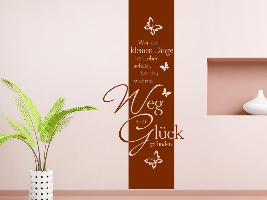 wandtattoo banner weg zum gl ck wandbanner wandtattoo de. Black Bedroom Furniture Sets. Home Design Ideas