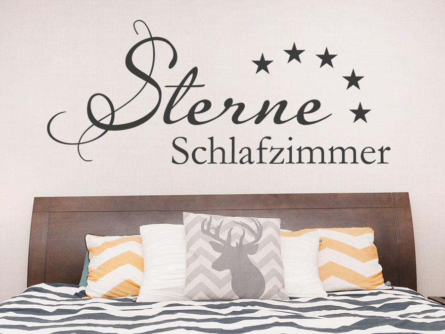 wandtattoo sterne schlafzimmer wandtattoo de. Black Bedroom Furniture Sets. Home Design Ideas