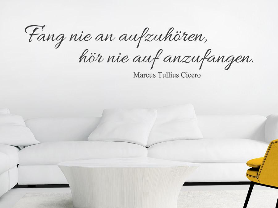 Wandtattoo Fang nie an aufzuhören von Wandtattoo.de