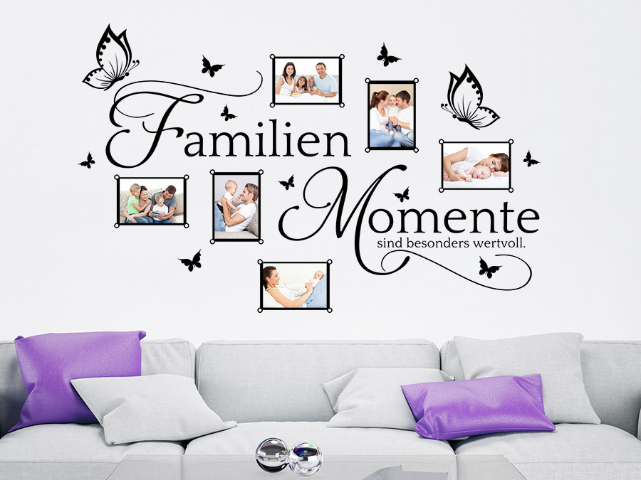 wandtattoo bilderrahmen familien momente wandtattoo de. Black Bedroom Furniture Sets. Home Design Ideas