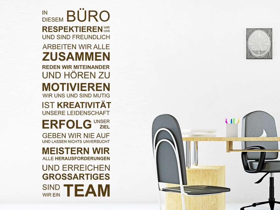 wandtattoo in diesem b ro spruchbanner wandtattoo de. Black Bedroom Furniture Sets. Home Design Ideas