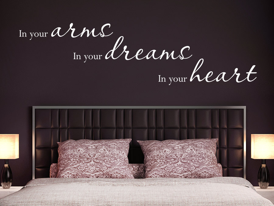 wandtattoo in your arms in your dreams wandtattoo de. Black Bedroom Furniture Sets. Home Design Ideas