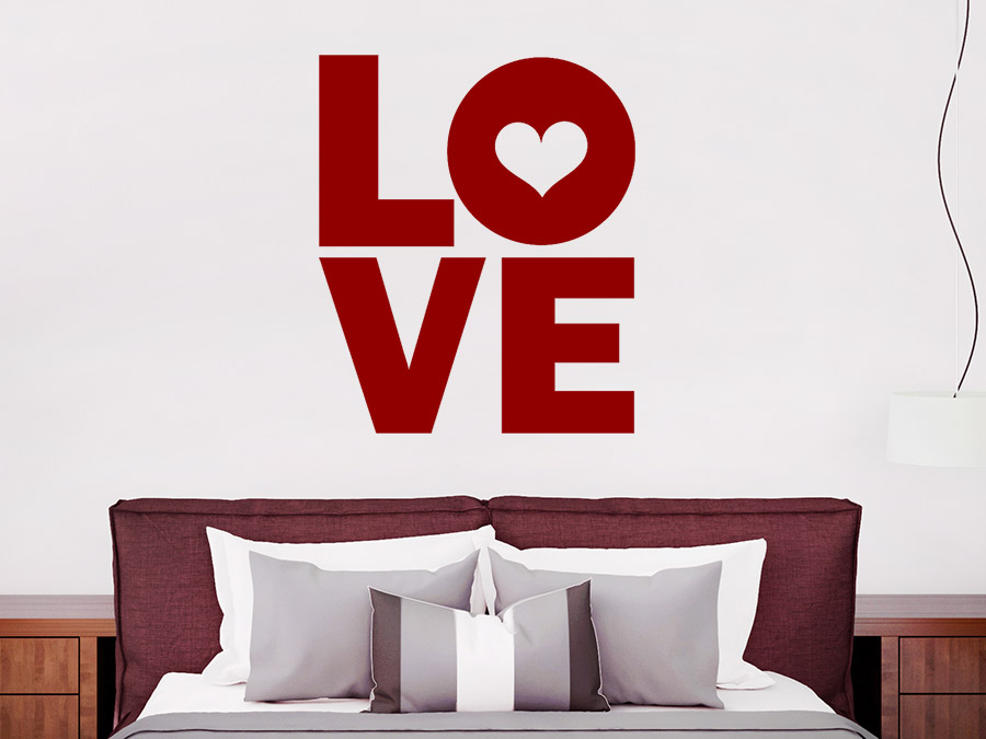 Wandtattoo Modern Love