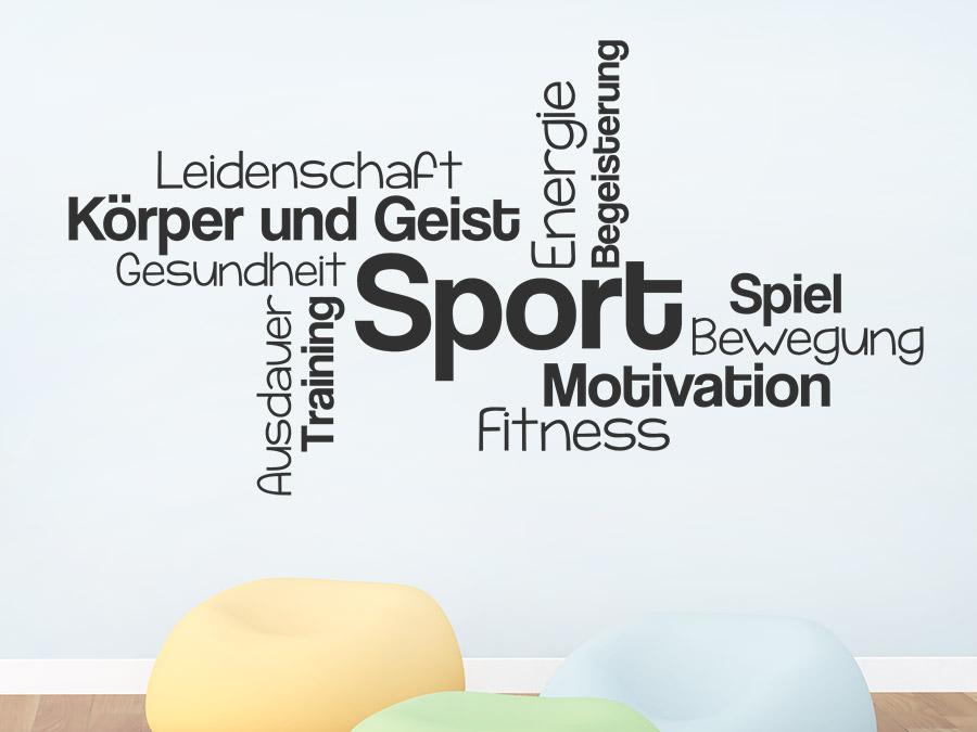 Wandtattoo Sport Wortwolke | WANDTATTOO.DE