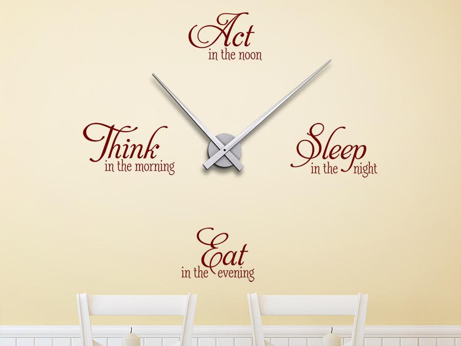 wandtattoo uhr think act sleep eat | wandtattoo.de, Esszimmer dekoo