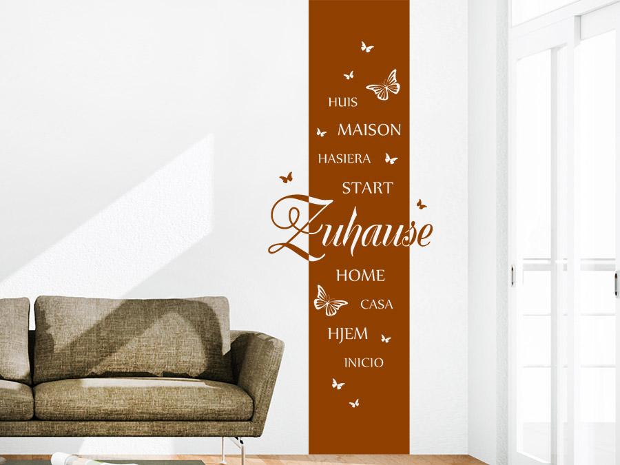 Wandtattoo banner zuhause sprachen wandbanner wandtattoo de for Wandtattoo banner