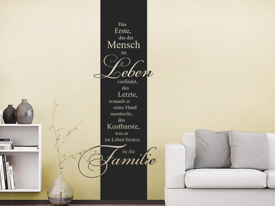 wandtattoo banner das erste das der mensch im leben vorfindet wandbanner von. Black Bedroom Furniture Sets. Home Design Ideas