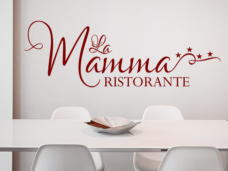 wandtattoo la mamma ristorante mit sternen wandtattoo de. Black Bedroom Furniture Sets. Home Design Ideas