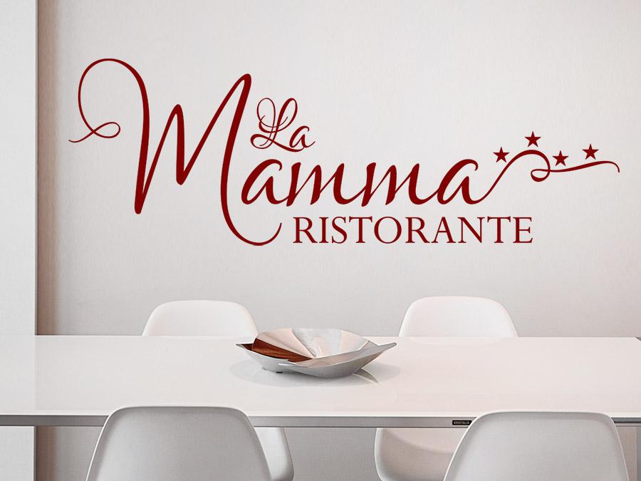Wandtattoo La Mamma Ristorante Mit Sternen