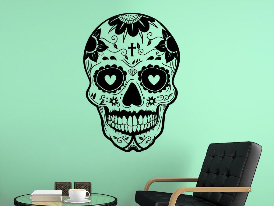 Wandtattoo Mexikanischer Totenkopf La Catrina von ...