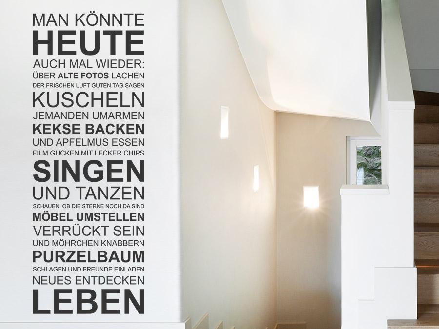 Treppenhaus mehrfamilienhaus gestalten  Wandtattoo im Treppenhaus - Auf Treppe, Wand & Co.