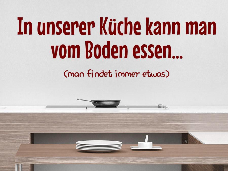 Wandtattoo In unserer Küche kann man... | WANDTATTOO.DE