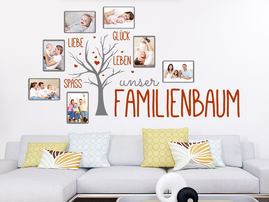 wandtattoo fotorahmen familienbaum wandtattoo de. Black Bedroom Furniture Sets. Home Design Ideas