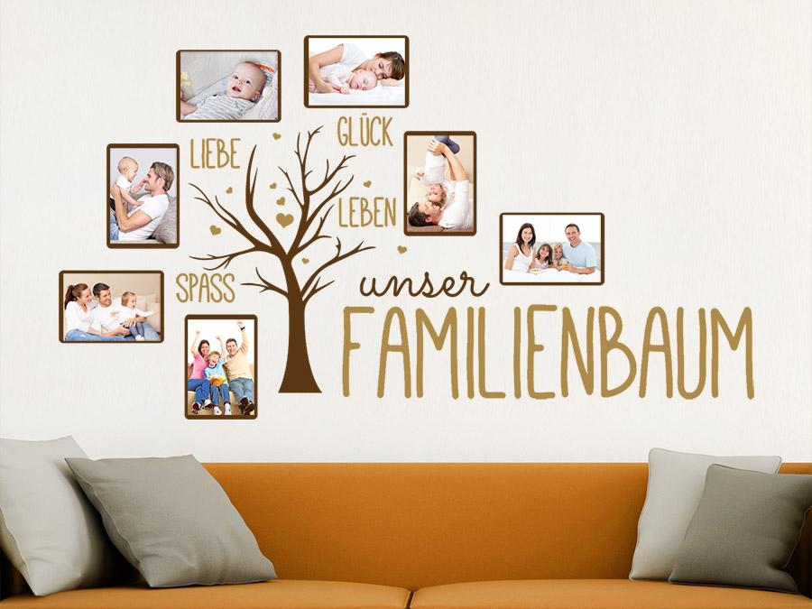 Wandtattoo Fotorahmen Familienbaum | WANDTATTOO.DE