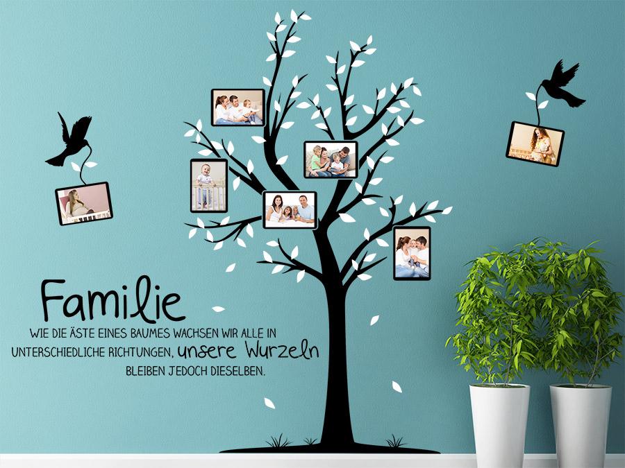 Wandtattoo Stammbaum Familie mit Fotos bei Homesticker.de