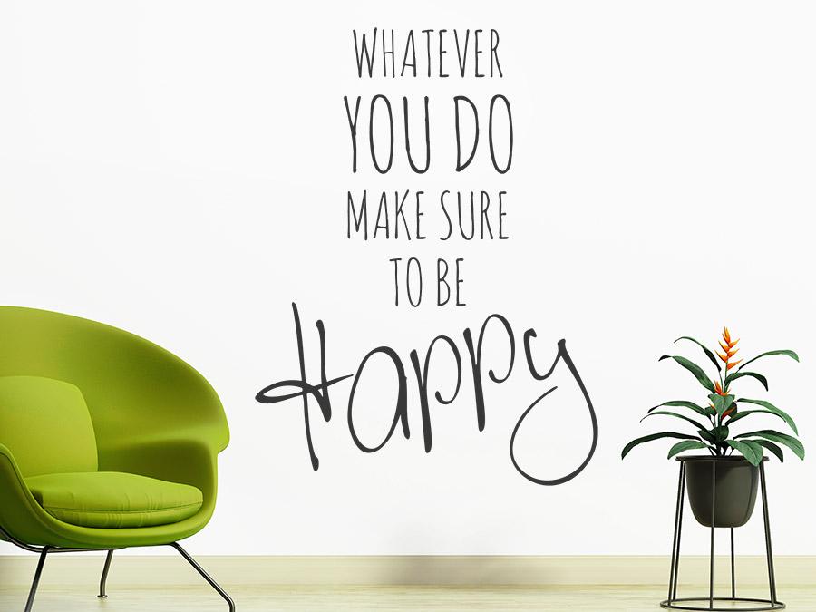 wandtattoo happy foto reuniecollegenoetsele. Black Bedroom Furniture Sets. Home Design Ideas