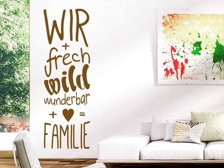 Wandtattoo Frech Wild Wunderbar