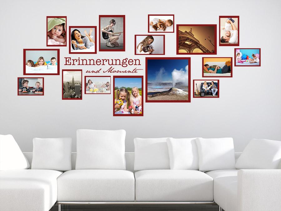 Wandtattoo Rahmen Erinnerungen Und Momente Als Fotocollage