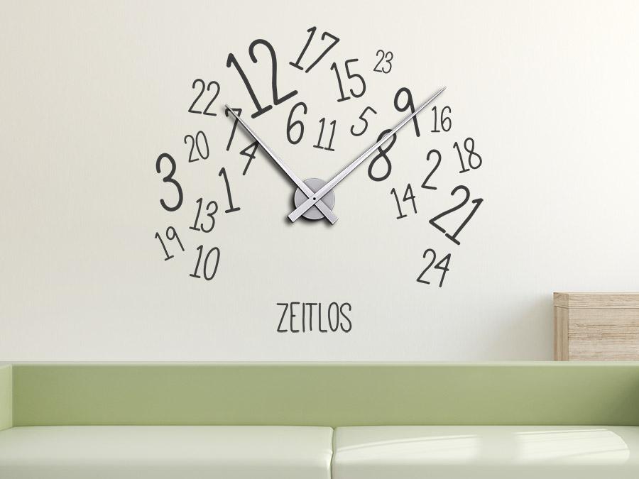 Wandtattoo Uhr Zeitlos