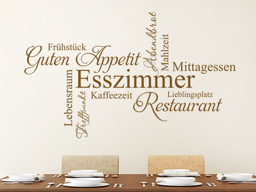 guten appetit - wandtattoos für die küche - kreative auswahl an ... - Wandtattoos Küche Esszimmer
