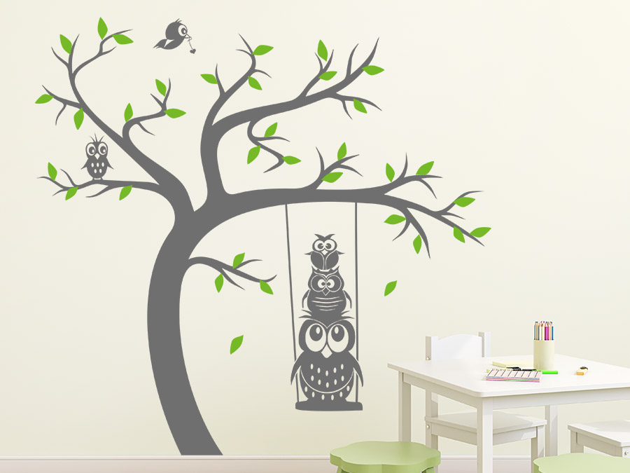 wandtattoo baum kinderzimmer reuniecollegenoetsele. Black Bedroom Furniture Sets. Home Design Ideas