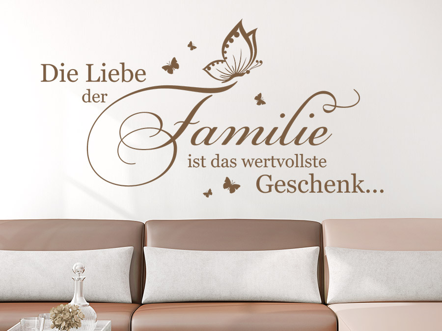 wandtattoo die liebe der familie ist das wandtattoo de. Black Bedroom Furniture Sets. Home Design Ideas