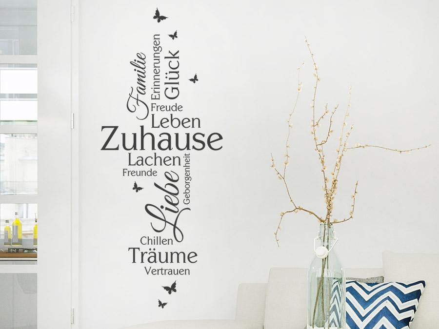 Wandtattoo Zuhause, Familie, Liebe, Glück... bei Homesticker.de