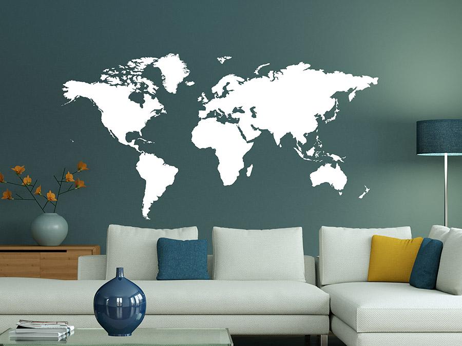 wandtattoo die welt von. Black Bedroom Furniture Sets. Home Design Ideas
