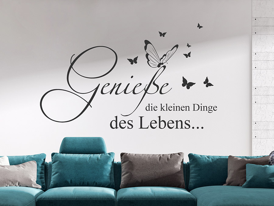 wandtattoo genie e die kleinen dinge des lebens wandtattoo de. Black Bedroom Furniture Sets. Home Design Ideas
