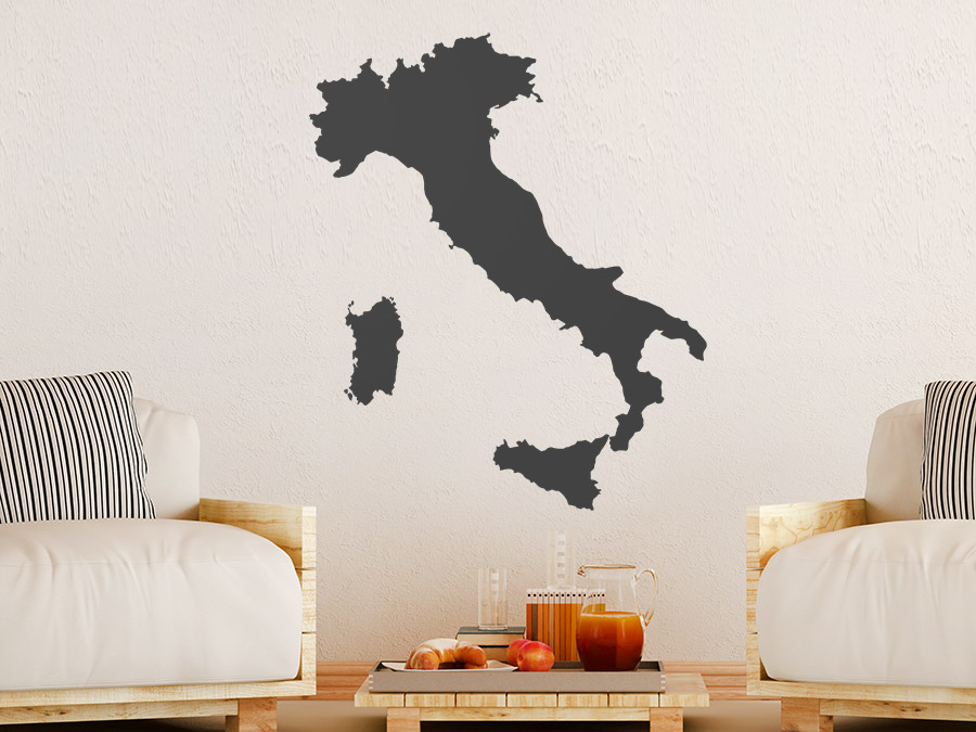 wandtattoo italien landkarte. Black Bedroom Furniture Sets. Home Design Ideas