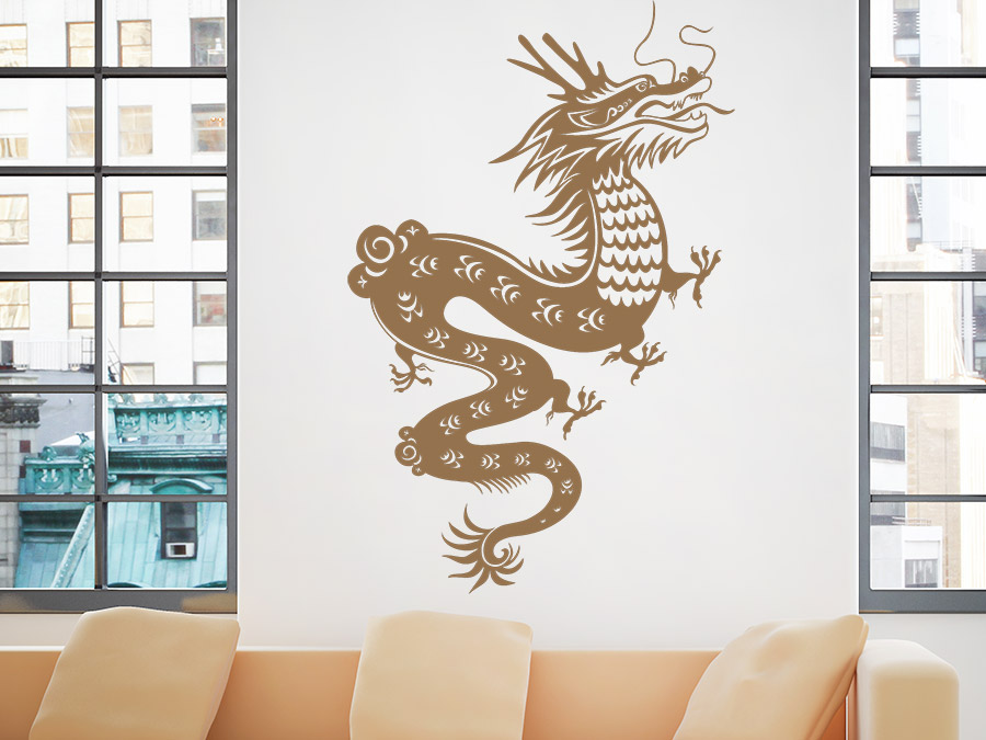 wandtattoo fern stlicher drache wandtattoo de. Black Bedroom Furniture Sets. Home Design Ideas