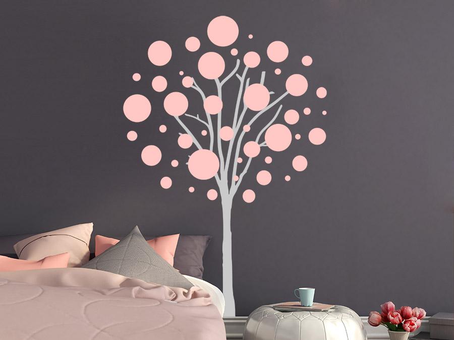Wandtattoo Schlafzimmer Baum | Wandtattoo Baum Mit Kreisen Wandtattoo De