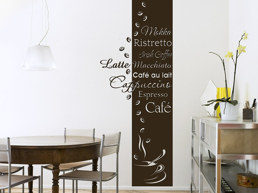 wandtattoo banner caf wandbanner wandtattoo de. Black Bedroom Furniture Sets. Home Design Ideas