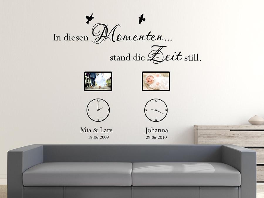 wandtattoo fotorahmen in diesen momenten wandtattoo de. Black Bedroom Furniture Sets. Home Design Ideas