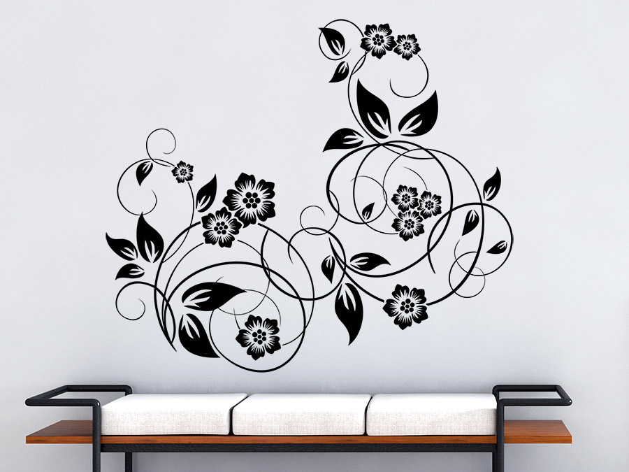 wandtattoo ornament dekor wandtattoo de. Black Bedroom Furniture Sets. Home Design Ideas