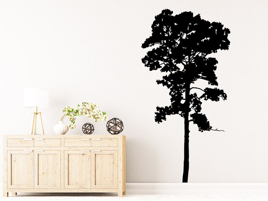 Wandtattoo Baum Umriss