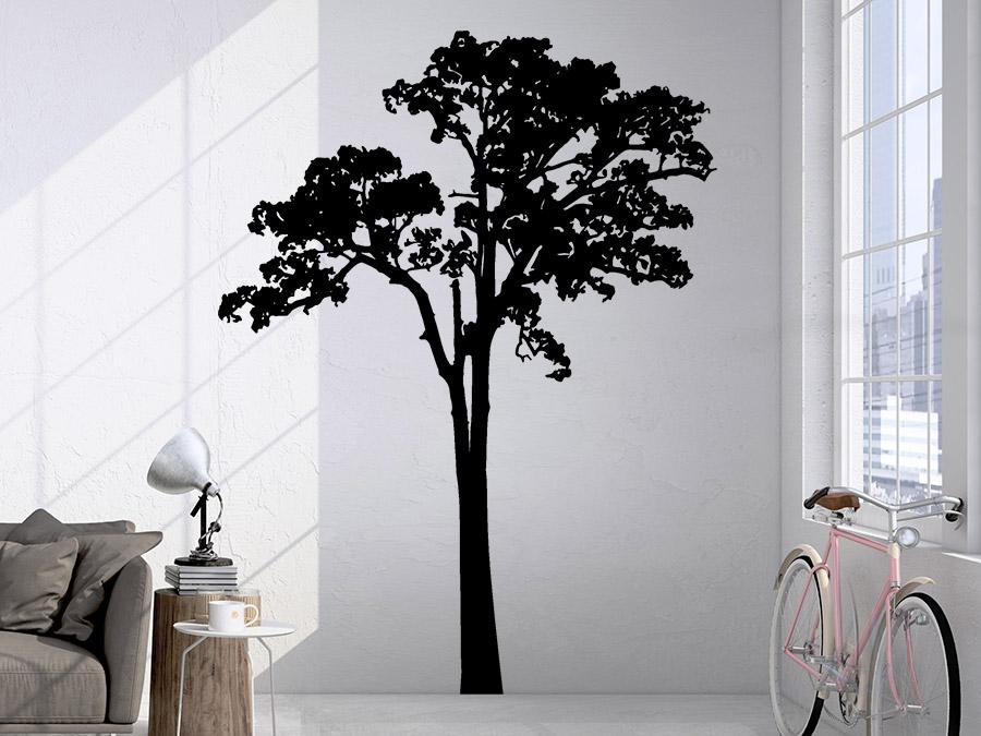 wandtattoo baum kontur von. Black Bedroom Furniture Sets. Home Design Ideas