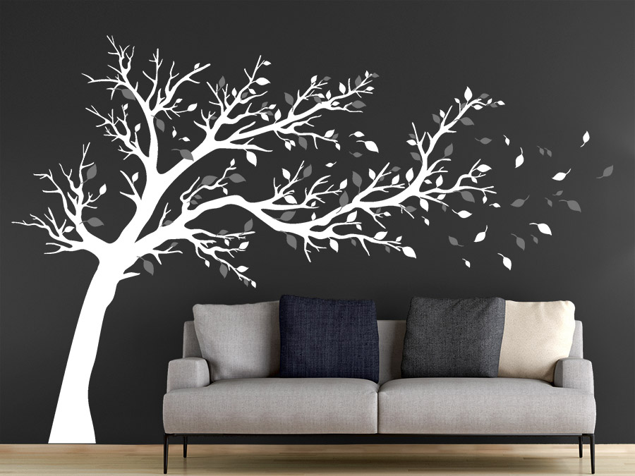 wandtattoo gro er baum zweifarbig wandtattoo de. Black Bedroom Furniture Sets. Home Design Ideas