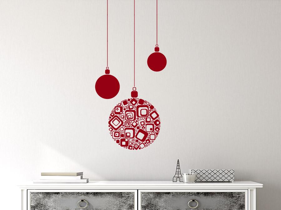 Wandtattoo moderne weihnachtskugeln wandtattoo de - Moderne wandtattoos ...