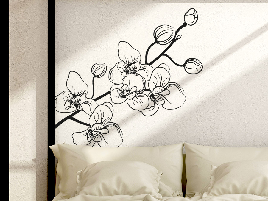 wandtattoo bl hende orchidee wandtattoo de. Black Bedroom Furniture Sets. Home Design Ideas