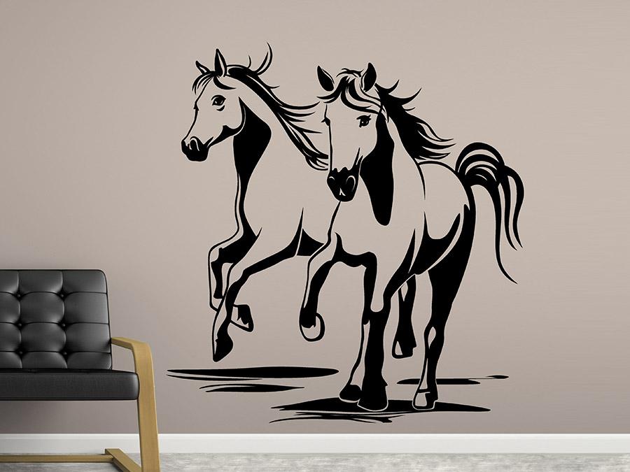 Wandtattoo Zwei Pferde