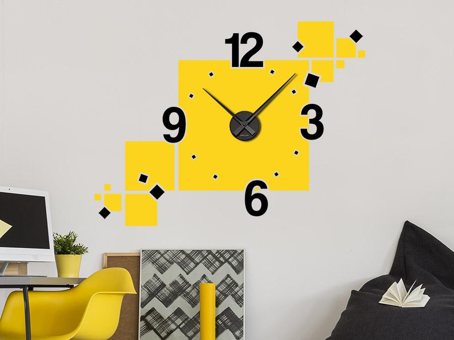 Wandtattoo Uhr Cubes zweifarbig