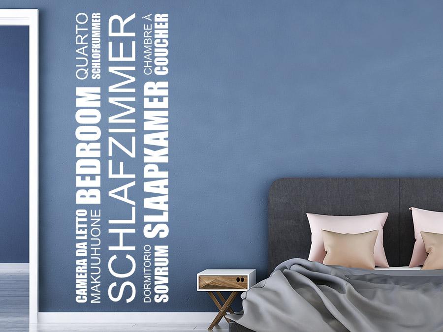 Wandtattoo Schlafzimmer Banner Sprachen | WANDTATTOO.DE